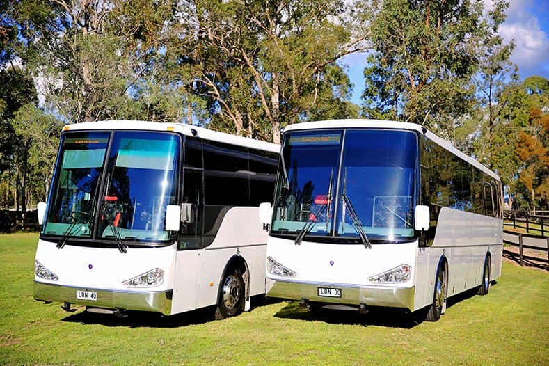 Lonestar coaches waiting for corporate event transfers on the gold coast